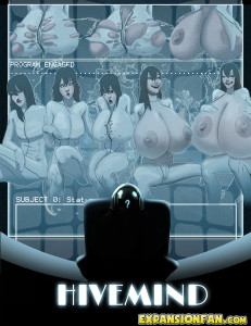Hivemind - breast expanion comic cover