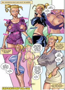 Material Girl - breast expansion comic page