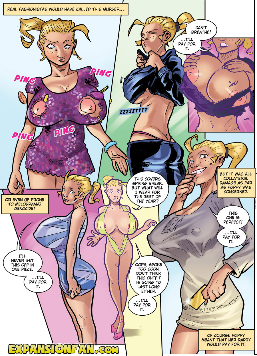comic Giantess breast expansion